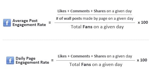 Công thức tính tỷ lệ Post Engagement và Page Engagement
